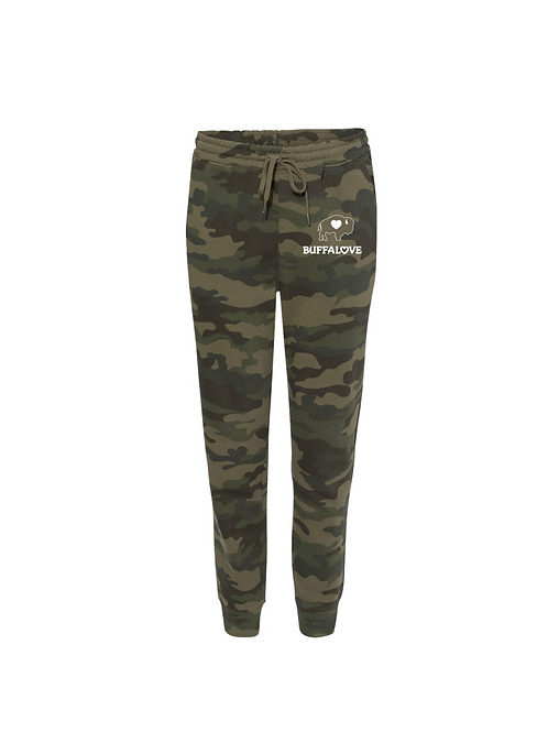 Ladies Camo Fitted Jogger
