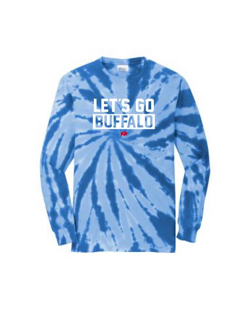 Let's Go Buffalo Tie Dye Long Sleeve