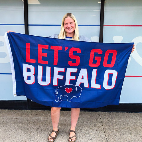 Let's Go Buffalo Flag 3ftX5ft
