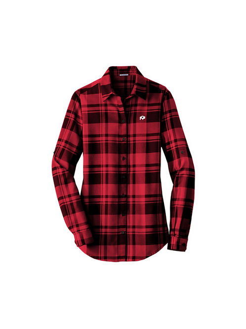 Ladies Plaid Flannel Shirt