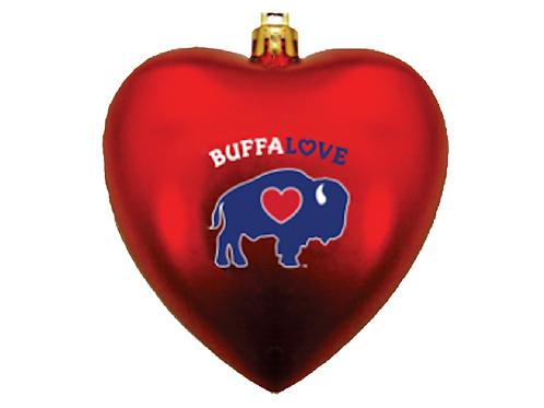 "BuffaLove 4"" Heart Ornament"