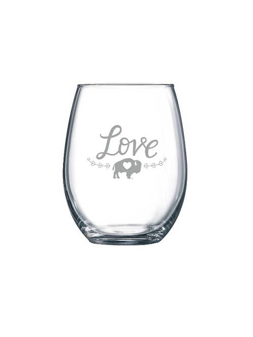 LOVE Stemless Wine Glass