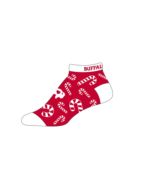 Candy Cane Ankle Sock