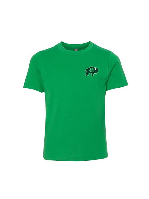 Left Chest Distressed Shamrock T-Shirt