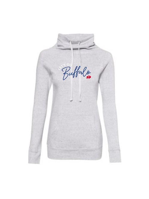 Ladies Let's Go Buffalo Cowl Neck Sweatshirt