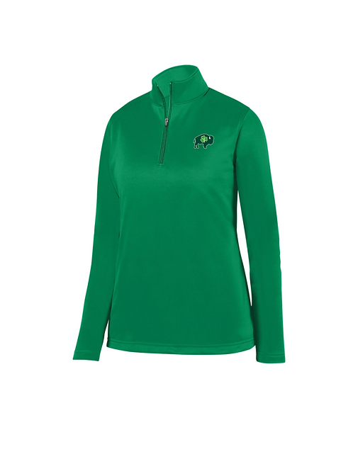 Ladies Kelly Green 1/4 Zip