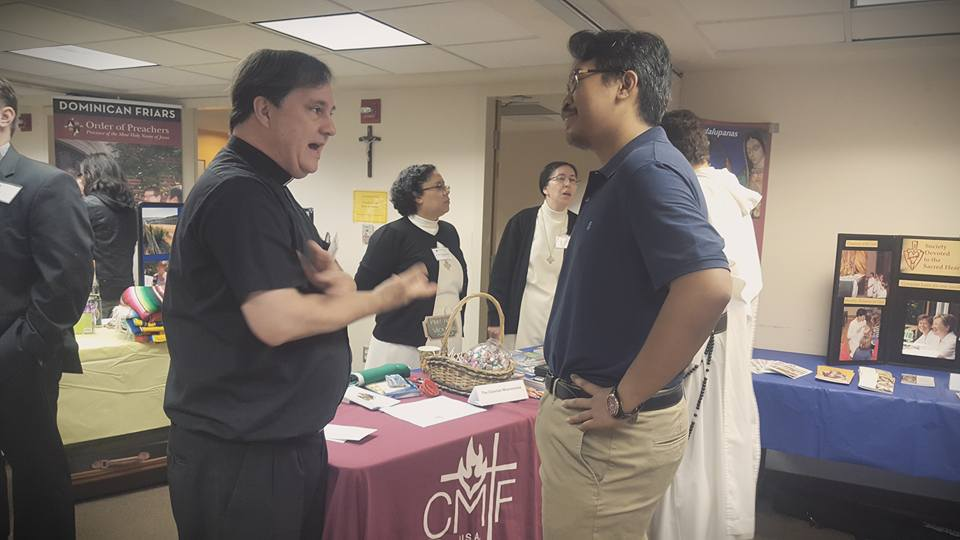 Fr. Ray at Los Angeles Vocation Fair