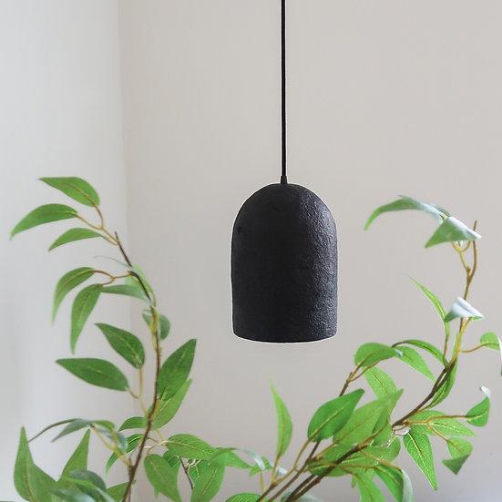 Papierpulp lamp   zwart