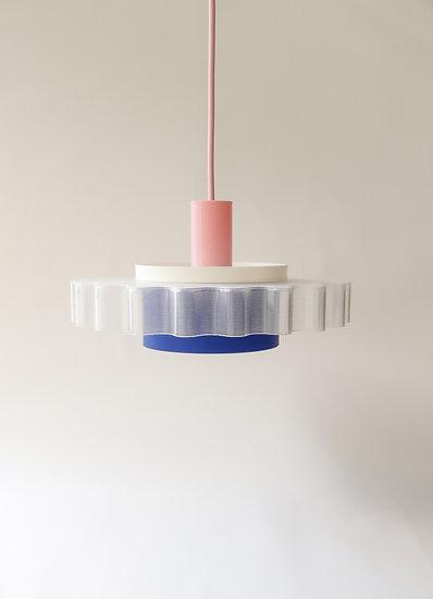 Gigi lamp n°3    roze + blauw + wit