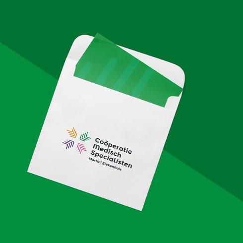 ontwerp: logo en huisstijlmiddelen CMS Coöperatie Medisch Specialisten Martini Ziekenhuis