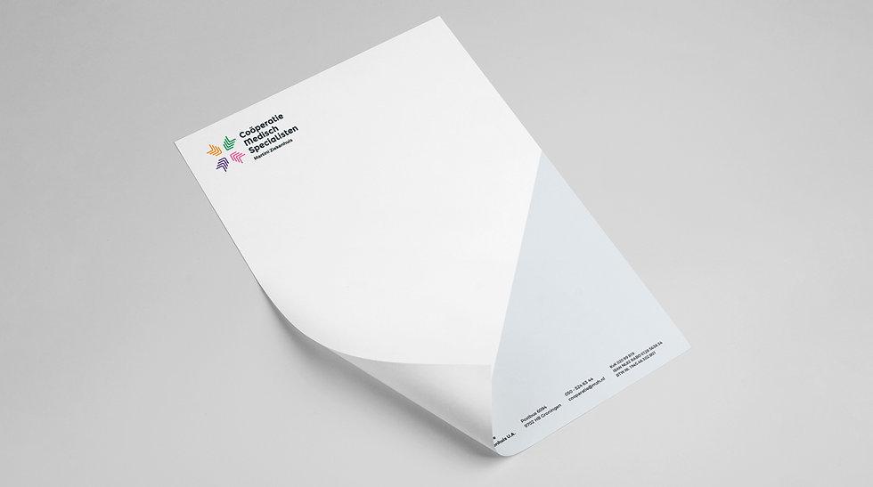 Briefpapier voorbeeld uit projectstijl C