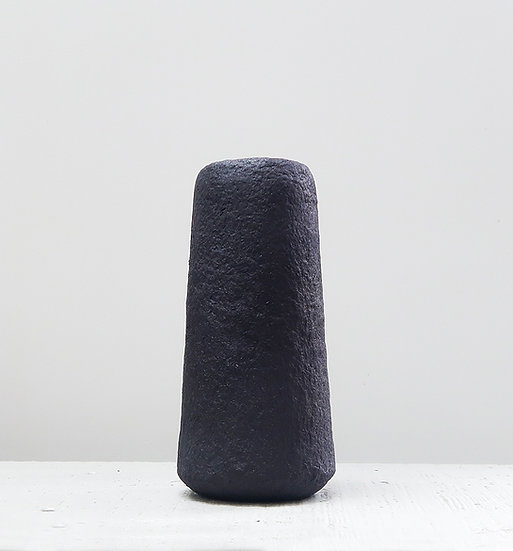 Vaas gerecycled papier 22 cm | zwart