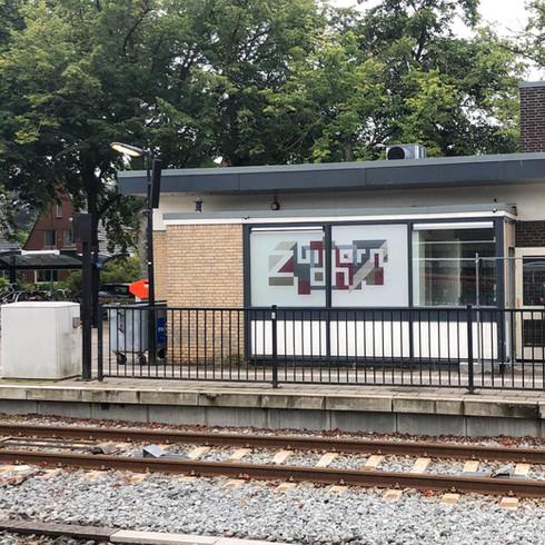 Raamsticker Station Zuidhorn