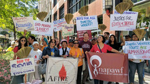 AFIRE Rally in Solidarity with Edith and Sherile, Filipina Domestic Workers Exploited by a German Di