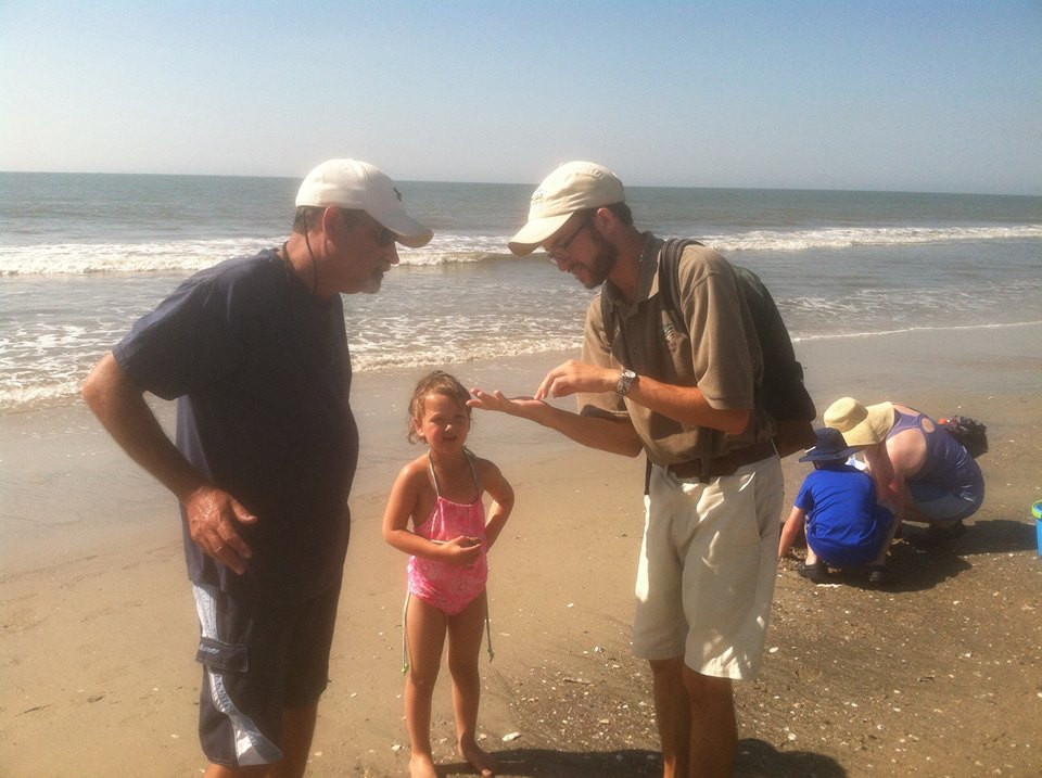 fossil hunting on Edisto Beach
