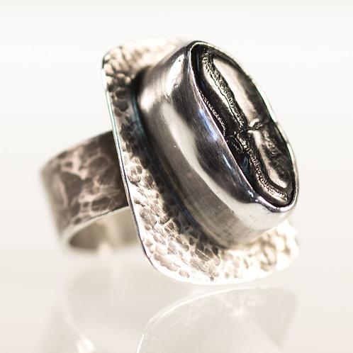 Burrfish Ring Hand-Hammered Pattern