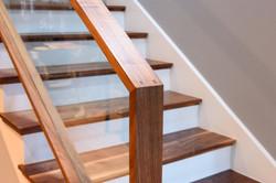 new walnut stairs