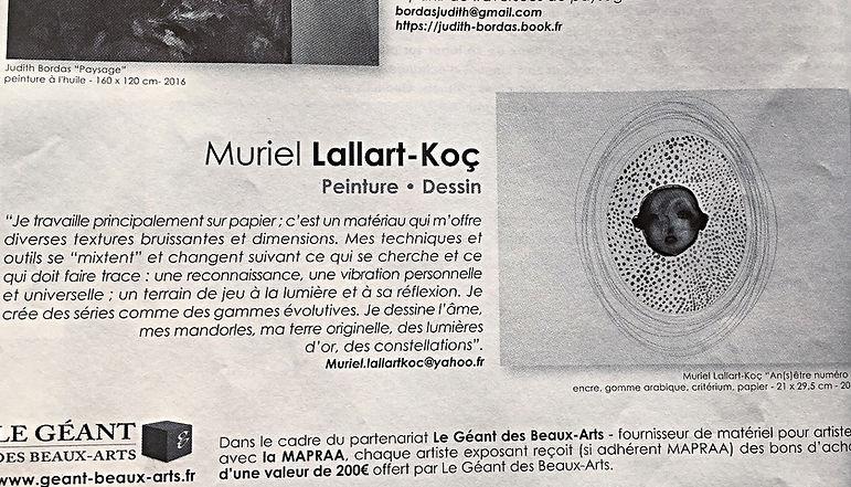 artcle de press e Muriel Lallart-Koç,points, visage, negatif, médaillon, ovale, mandorle, pois, doré, or, portrait, famille