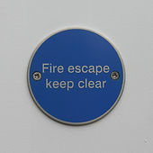 Fire Escape Keep Clear Disc