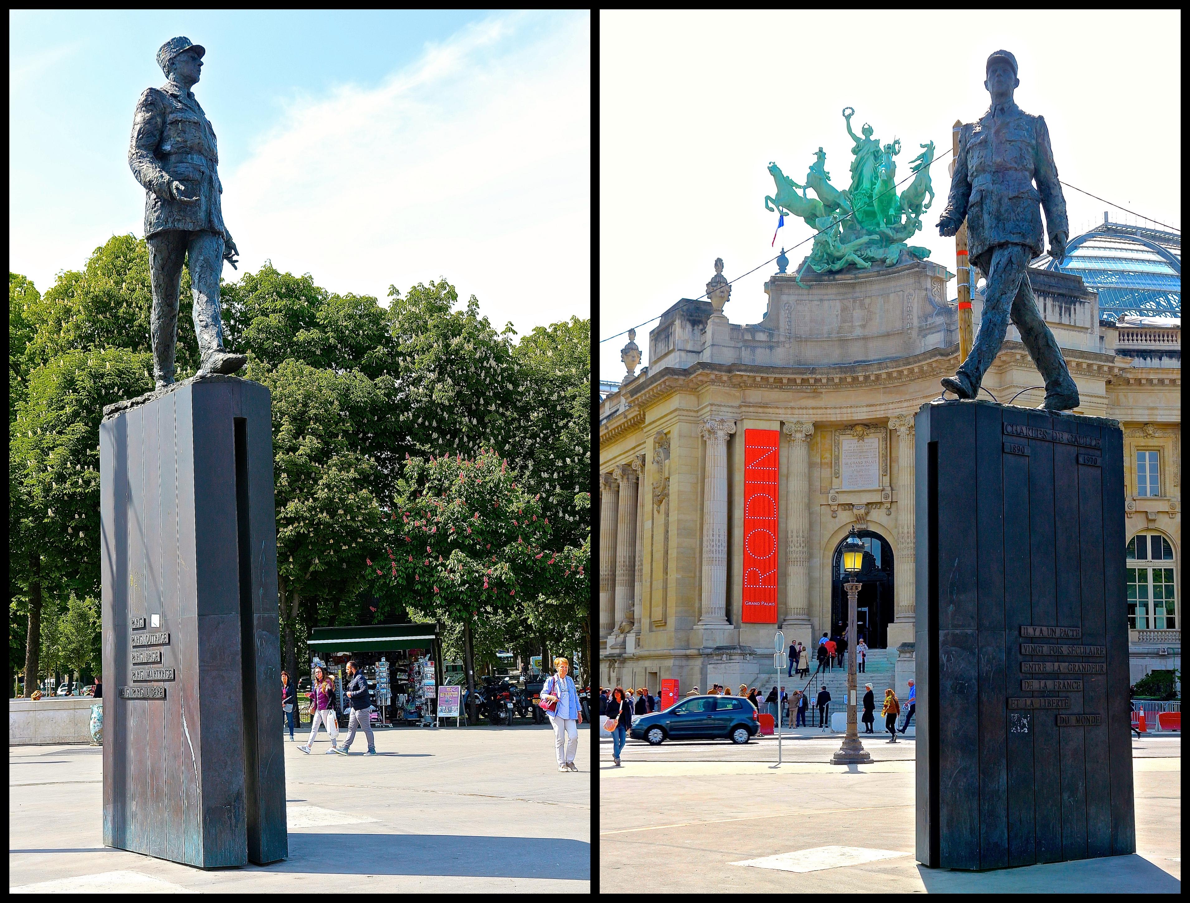 le monument à Charles de Gaulle