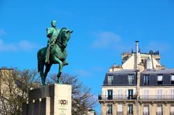 la statue du Maréchal Foch
