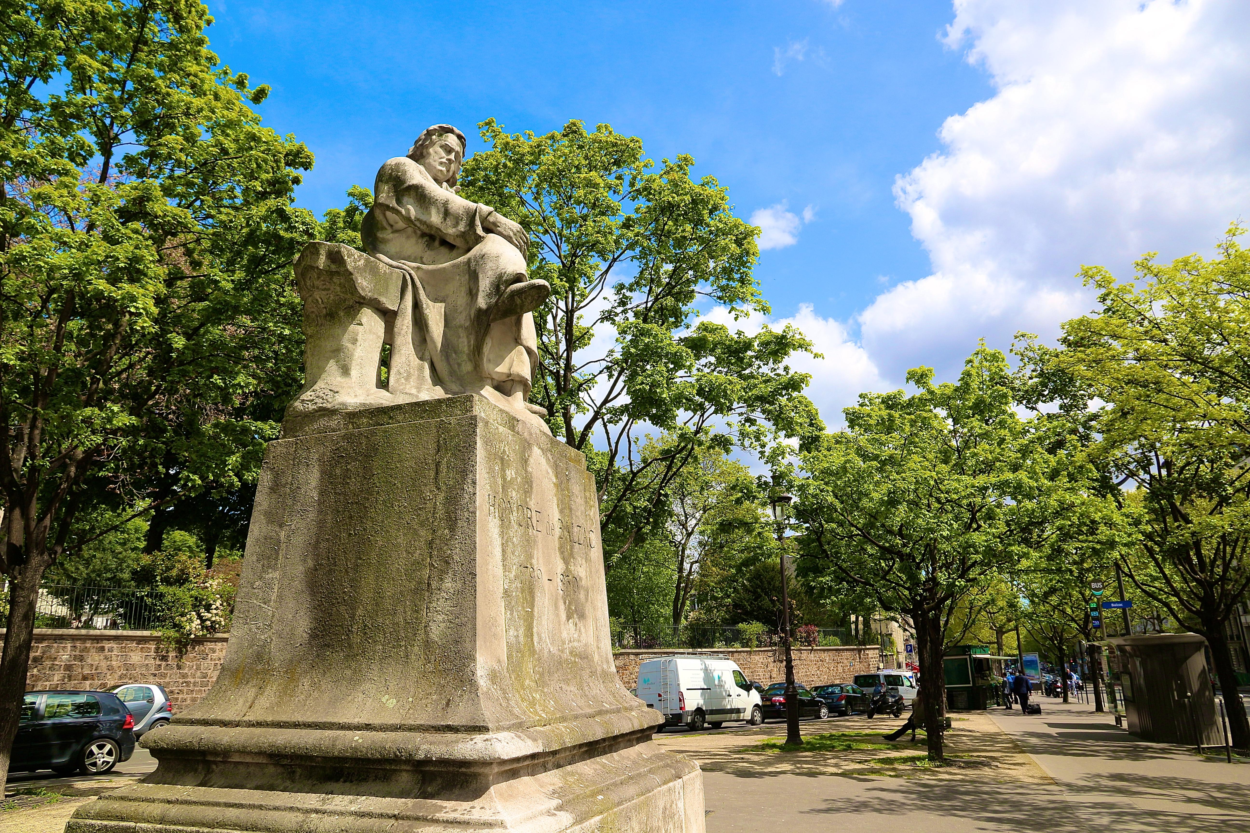 la statue de Balzac