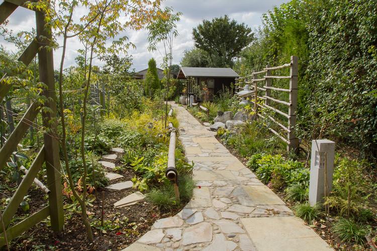 Tea Garden in summer