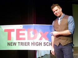 Me doing my TED talk on creative entrepreneurship!!!