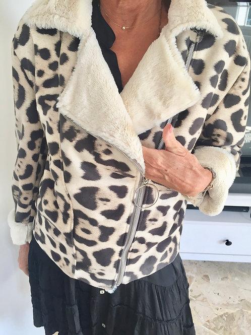 blouson léopard
