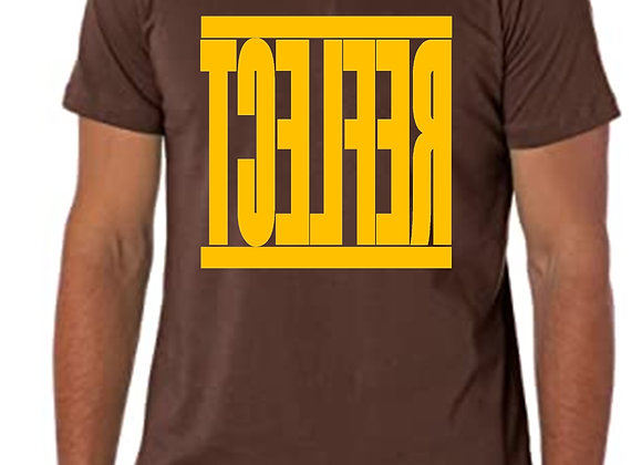 REFLECT Men's Chocolate Brown T-shirt