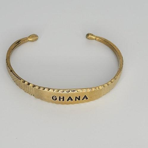 Gold Brass Bracelet- Ghana