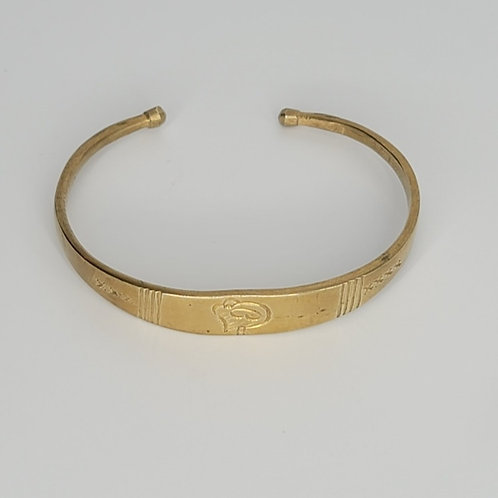 Gold Brass Bracelet Sankofa