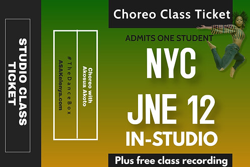 NYC Class -IN-STUDIO