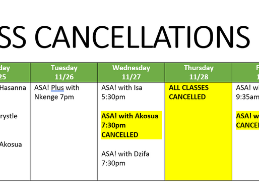 Holiday Cancellations