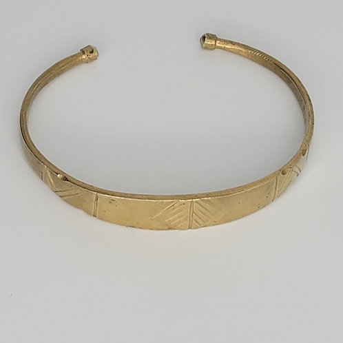 Gold Brass Bracelet- Kra
