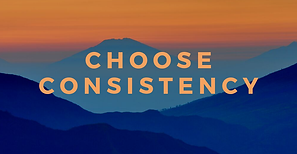 Consistency: My #OneWord for 2020