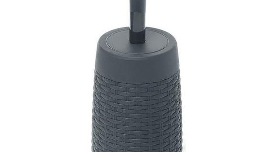 Addis Faux Rattan Toilet Brush and Holder
