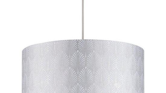 Metallic Art Deco Print Shade