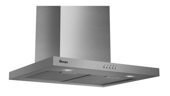 Swan SXB7090SS 60cm T-Box Chimney Hood with Carbon Filters - Stainless Steel