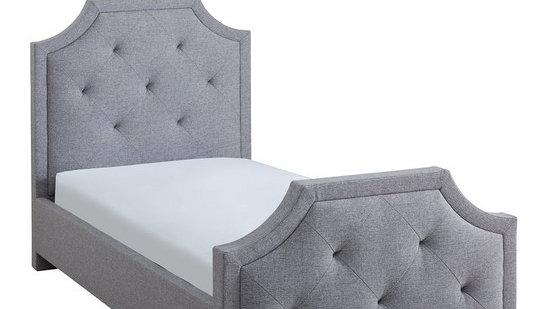 Louis Upholstered Childrens Single Bed Frame Grey