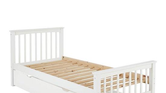 Novara Kids Single Bed Frame  – White - Excluding trundle