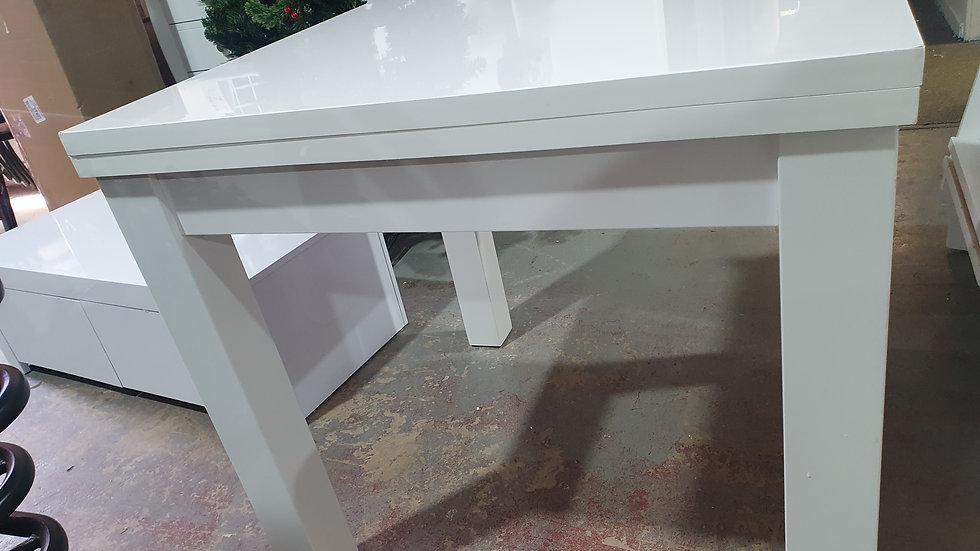 White Gloss Flip Top table