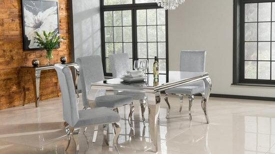 Vida Living Ohio 160 cm Dining Table + 6 Chairs