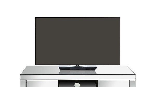 Monte Carlo Ready Assembled Mirrored TV Unit Fits up to 50inch TV