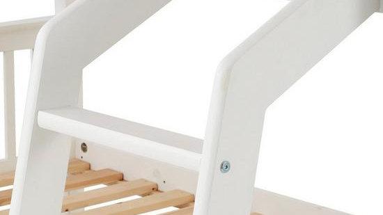 Novara Detachable Trio Bunk Bed – White