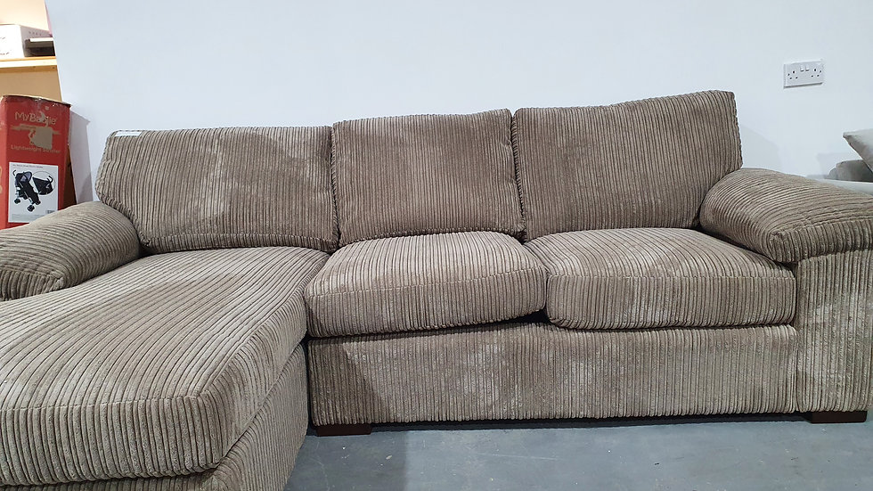 Amalfi Fabric Left Hand Chaise - Mocha