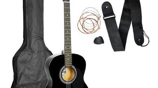 3rd Avenue 3rd Avenue Acoustic Guitar Pack - Black