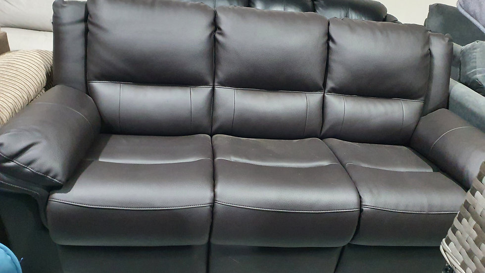 Chocolate Albion Luxury Leather 3 seater sofa
