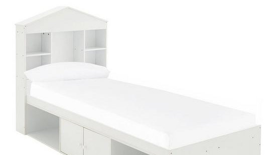 Alpha Bed with House Storage Headboard