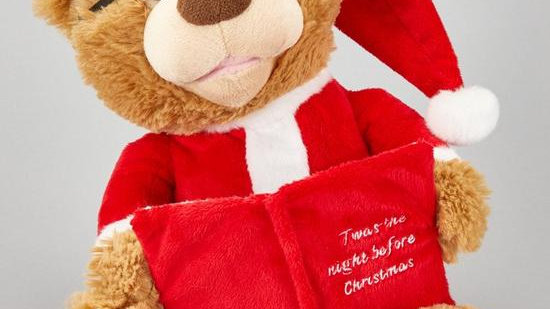 Festive 27 cm Battery Operated Story Telling Christmas Bear